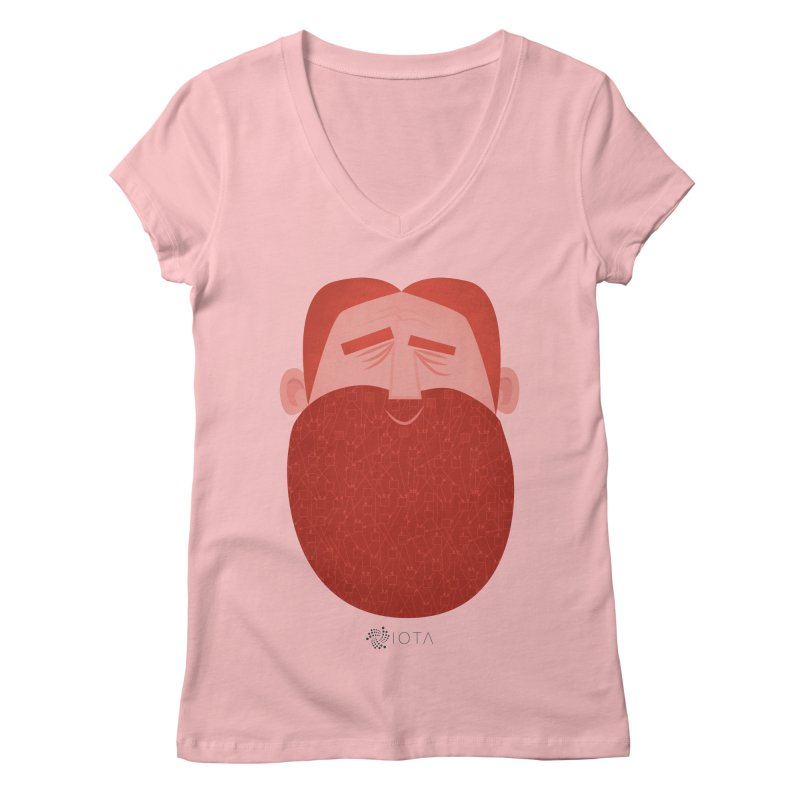 IOTA - Explore the Tangle - David's Beard Women's Regular V-Neck by amirabouroumie's Artist Shop