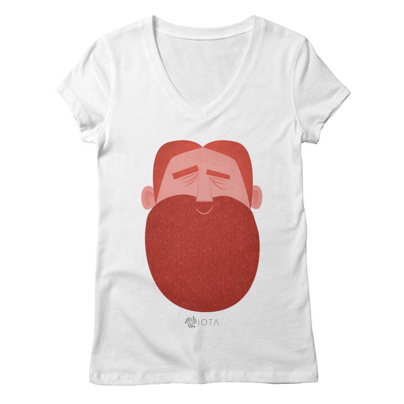 IOTA - Explore the Tangle - David's Beard Women's Regular V-Neck by amirabouroumie's Artist Shop