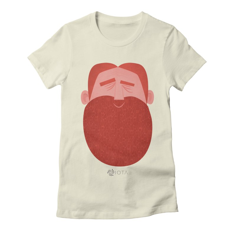 IOTA - Explore the Tangle - David's Beard Women's Fitted T-Shirt by amirabouroumie's Artist Shop