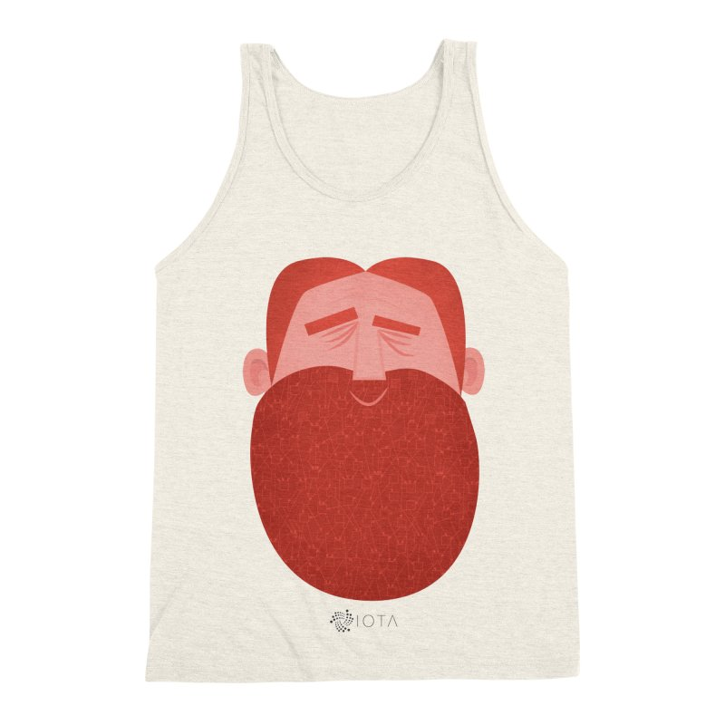 IOTA - Explore the Tangle - David's Beard Men's Triblend Tank by amirabouroumie's Artist Shop