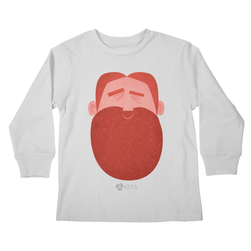 IOTA - Explore the Tangle - David's Beard Kids Longsleeve T-Shirt by amirabouroumie's Artist Shop