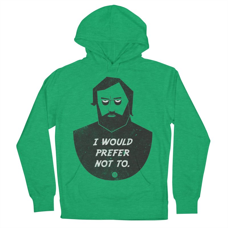 Slavoj Zizek - I prefer not to Women's French Terry Pullover Hoody by amirabouroumie's Artist Shop
