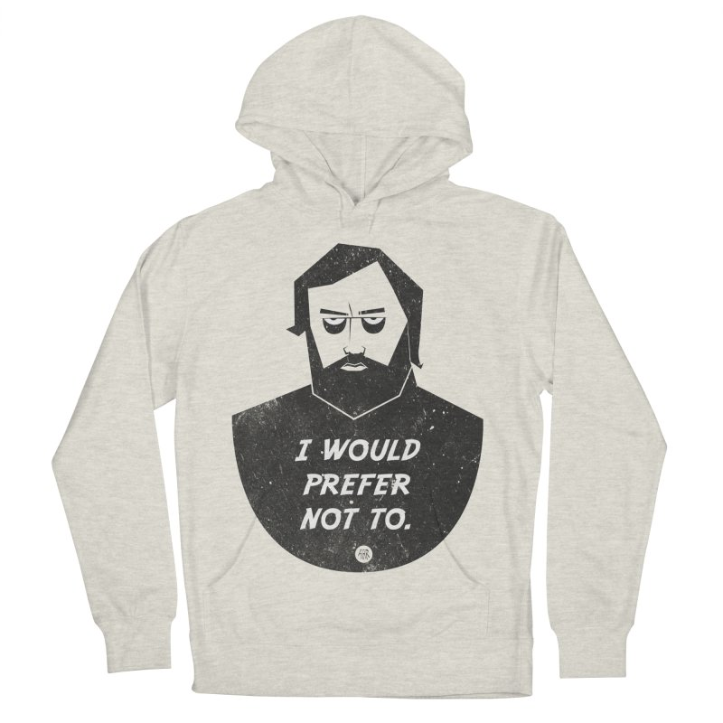 Slavoj Zizek - I prefer not to Men's French Terry Pullover Hoody by amirabouroumie's Artist Shop
