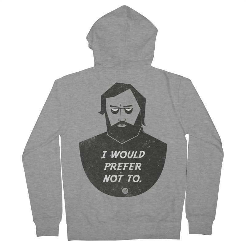 Slavoj Zizek - I prefer not to Women's French Terry Zip-Up Hoody by amirabouroumie's Artist Shop