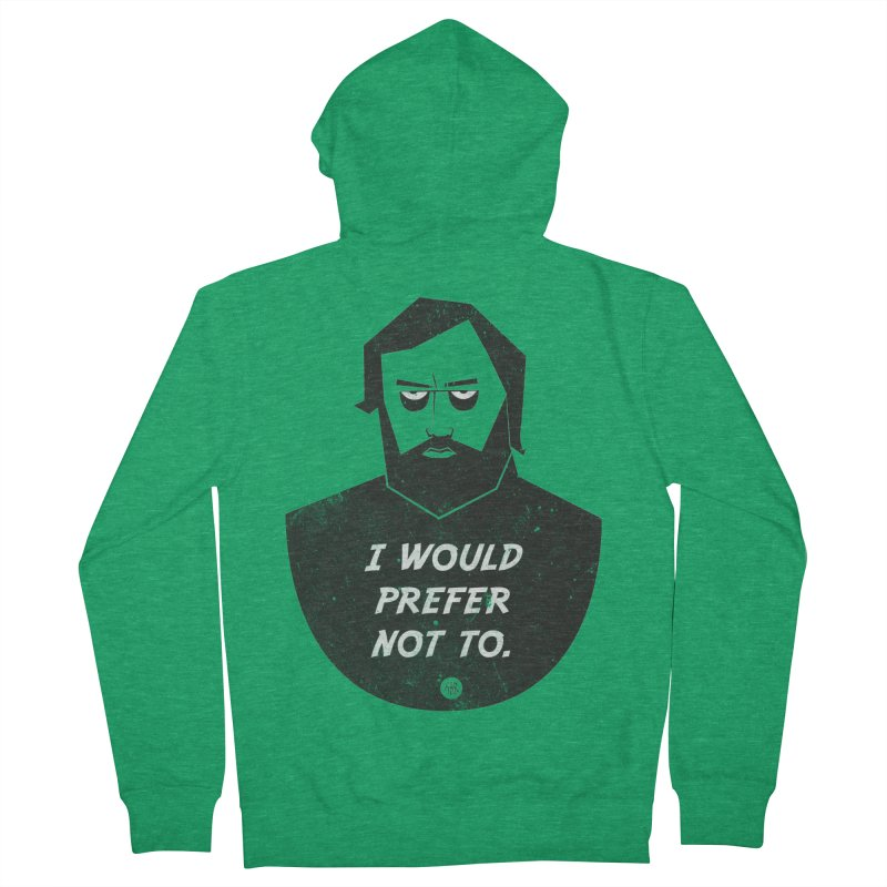Slavoj Zizek - I prefer not to Men's French Terry Zip-Up Hoody by amirabouroumie's Artist Shop