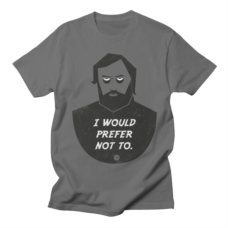Slavoj Zizek - I prefer not to Men's Regular T-Shirt by amirabouroumie's Artist Shop