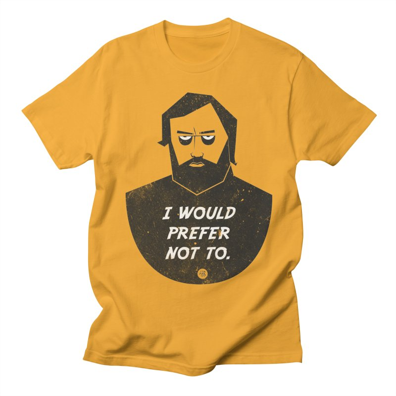 Slavoj Zizek - I prefer not to Women's Regular Unisex T-Shirt by amirabouroumie's Artist Shop