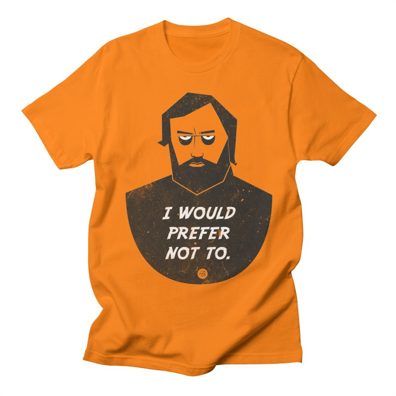 Slavoj Zizek - I prefer not to Men's Regular T-Shirt by amirabouroumie's Artist Shop