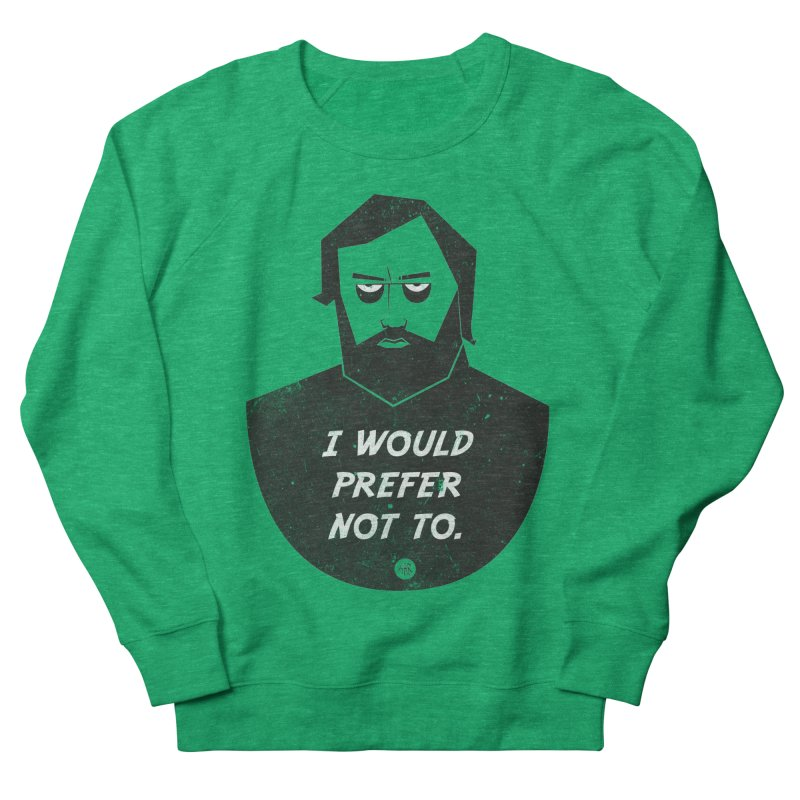 Slavoj Zizek - I prefer not to Women's French Terry Sweatshirt by amirabouroumie's Artist Shop