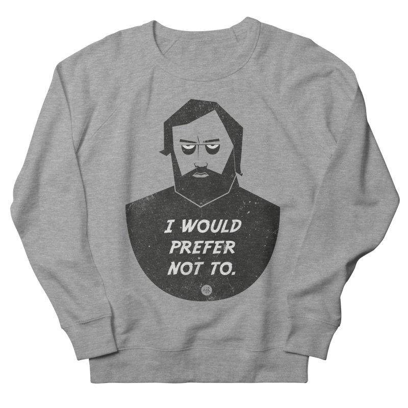 Slavoj Zizek - I prefer not to Men's French Terry Sweatshirt by amirabouroumie's Artist Shop