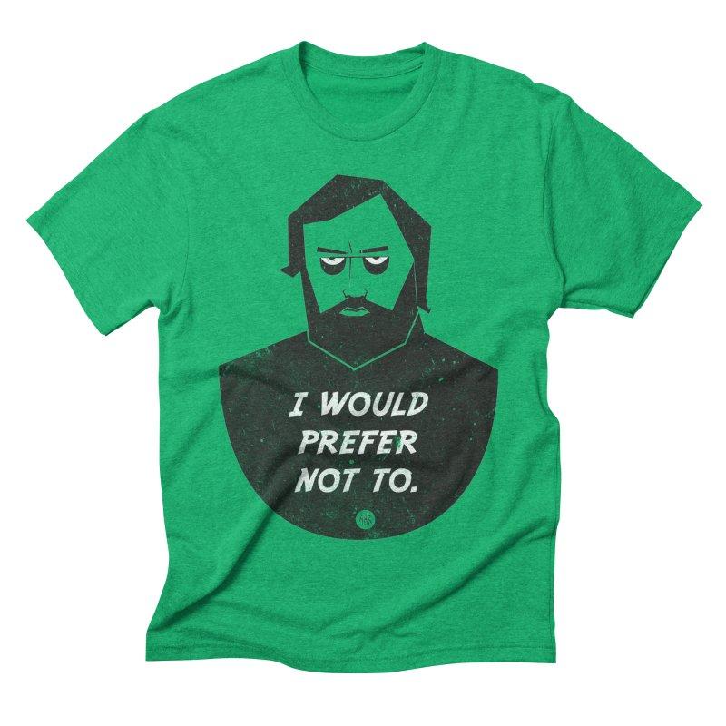 Slavoj Zizek - I prefer not to Men's Triblend T-Shirt by amirabouroumie's Artist Shop