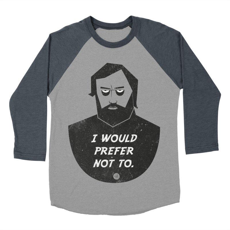 Slavoj Zizek - I prefer not to Women's Baseball Triblend Longsleeve T-Shirt by amirabouroumie's Artist Shop