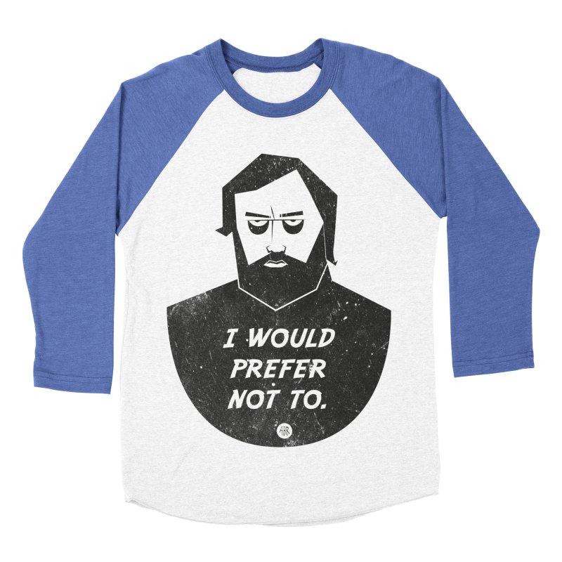 Slavoj Zizek - I prefer not to Men's Baseball Triblend Longsleeve T-Shirt by amirabouroumie's Artist Shop
