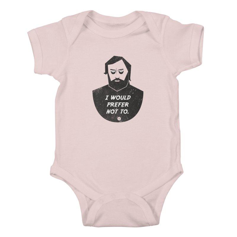 Slavoj Zizek - I prefer not to Kids Baby Bodysuit by amirabouroumie's Artist Shop