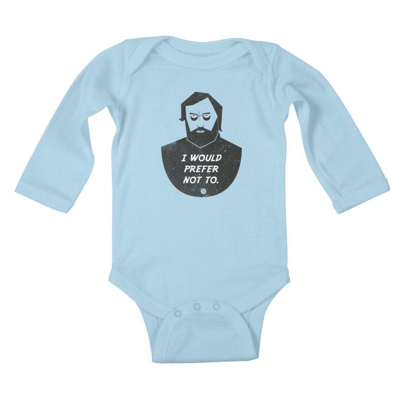 Slavoj Zizek - I prefer not to Kids Baby Longsleeve Bodysuit by amirabouroumie's Artist Shop