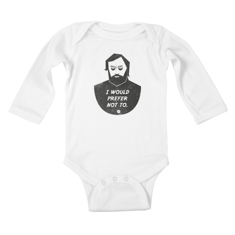 Slavoj Zizek - I prefer not to Kids Baby Longsleeve Bodysuit by amirabouroumie's Artist Shop