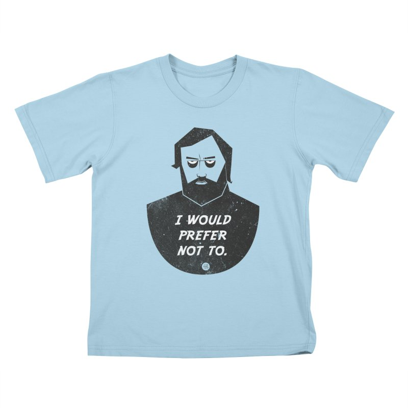 Slavoj Zizek - I prefer not to Kids T-Shirt by amirabouroumie's Artist Shop