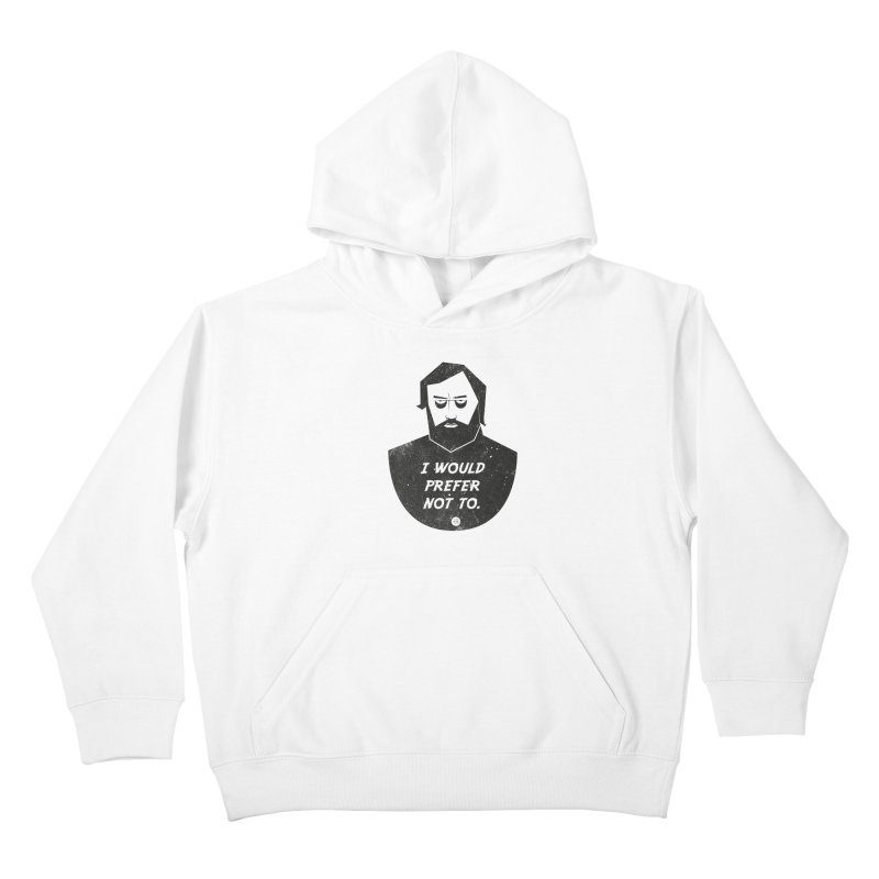 Slavoj Zizek - I prefer not to Kids Pullover Hoody by amirabouroumie's Artist Shop