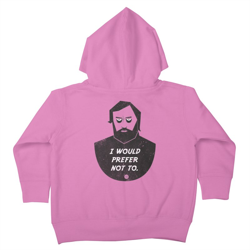 Slavoj Zizek - I prefer not to Kids Toddler Zip-Up Hoody by amirabouroumie's Artist Shop