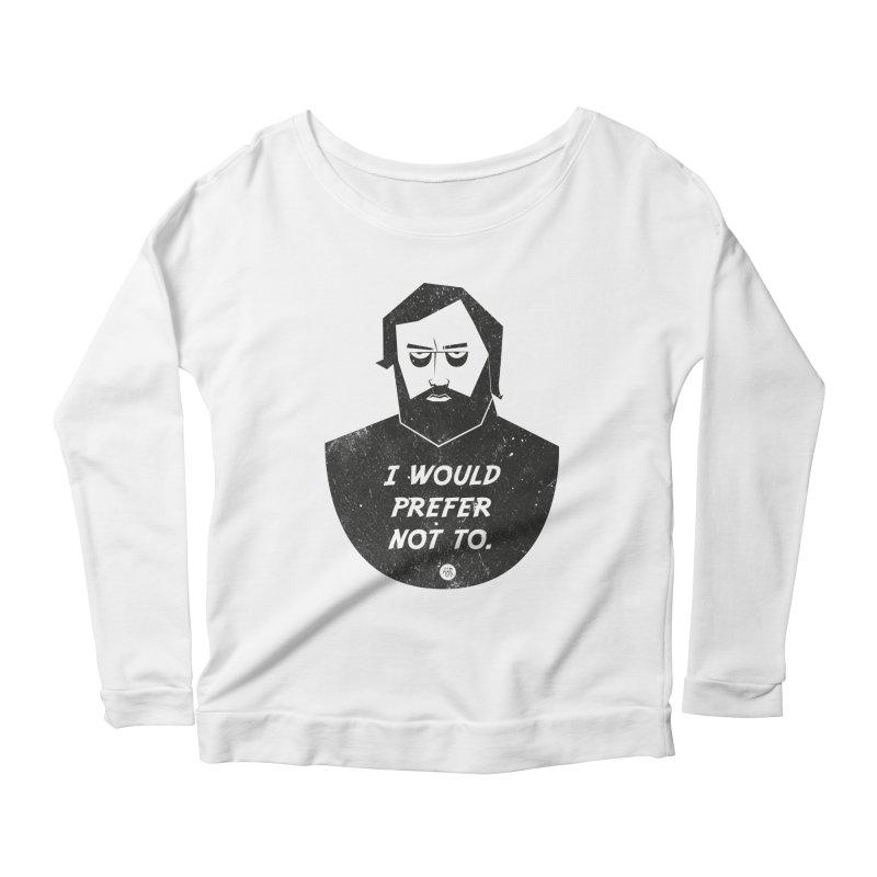 Slavoj Zizek - I prefer not to Women's Scoop Neck Longsleeve T-Shirt by amirabouroumie's Artist Shop