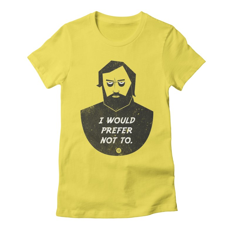 Slavoj Zizek - I prefer not to Women's Fitted T-Shirt by amirabouroumie's Artist Shop
