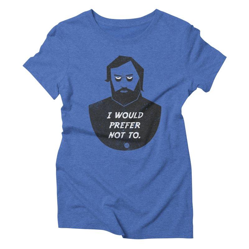 Slavoj Zizek - I prefer not to Women's Triblend T-Shirt by amirabouroumie's Artist Shop