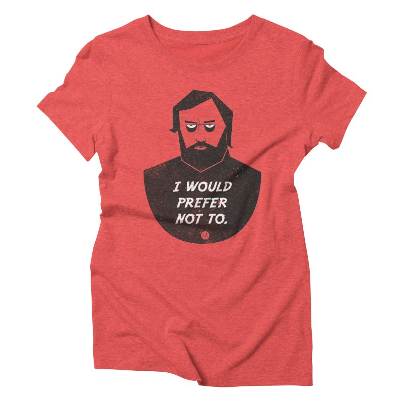 Slavoj Zizek - I prefer not to Women's Triblend T-Shirt by amirabouroumie's Artist Shop