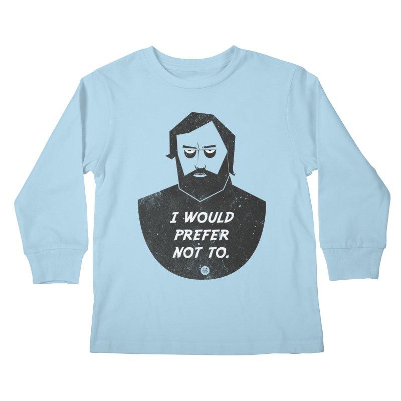 Slavoj Zizek - I prefer not to Kids Longsleeve T-Shirt by amirabouroumie's Artist Shop