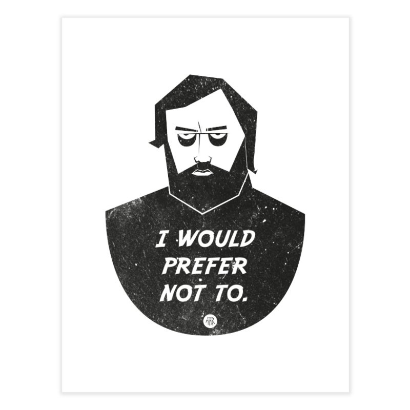 Slavoj Zizek - I prefer not to Home Fine Art Print by amirabouroumie's Artist Shop