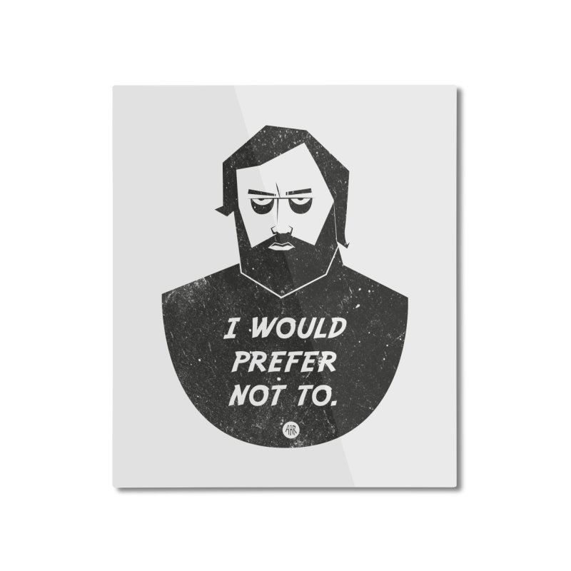 Slavoj Zizek - I prefer not to Home Mounted Aluminum Print by amirabouroumie's Artist Shop