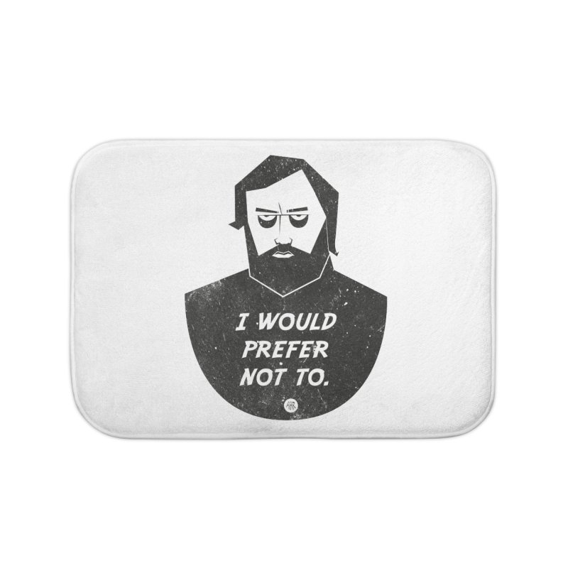 Slavoj Zizek - I prefer not to Home Bath Mat by amirabouroumie's Artist Shop