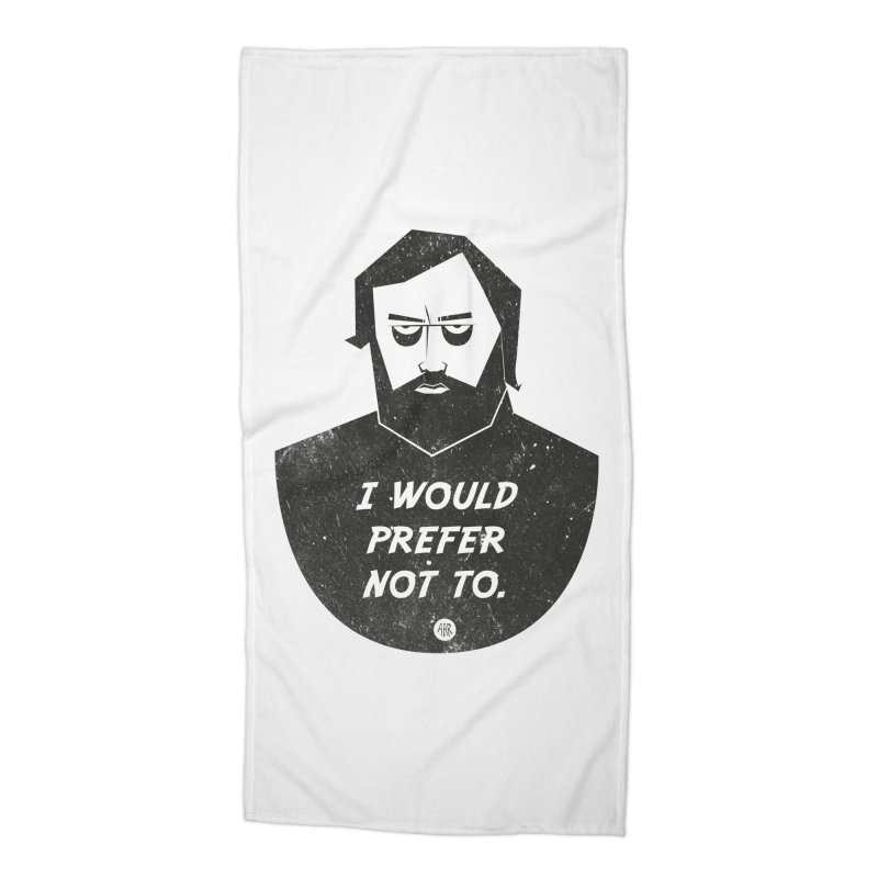 Slavoj Zizek - I prefer not to Accessories Beach Towel by amirabouroumie's Artist Shop