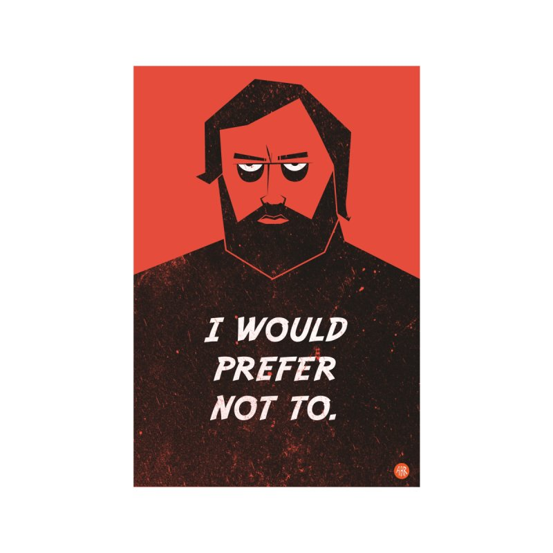 Slavoj Zizek - I would prefer not to. by amirabouroumie's Artist Shop