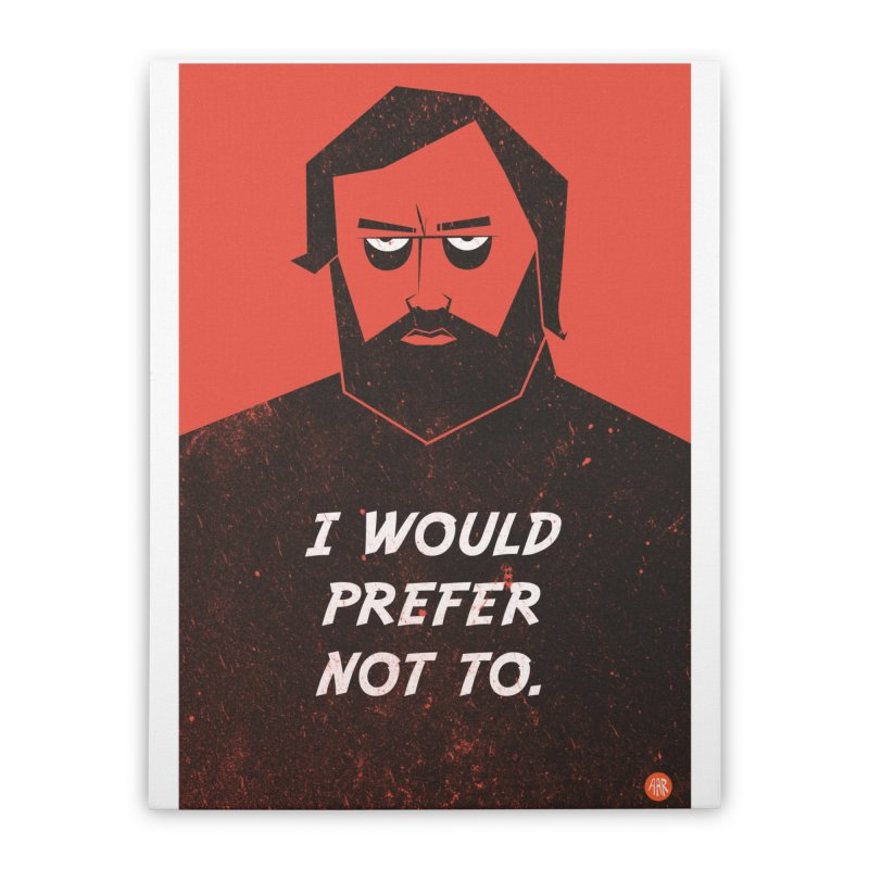 Slavoj Zizek - I would prefer not to. Home Stretched Canvas by amirabouroumie's Artist Shop