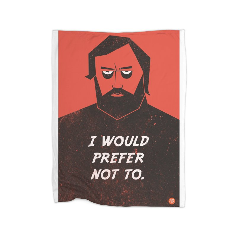 Slavoj Zizek - I would prefer not to. Home Blanket by amirabouroumie's Artist Shop