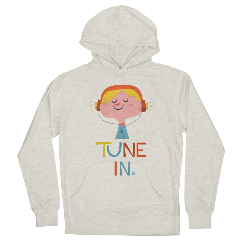 Tune In. Women's Pullover Hoody by amirabouroumie's Artist Shop