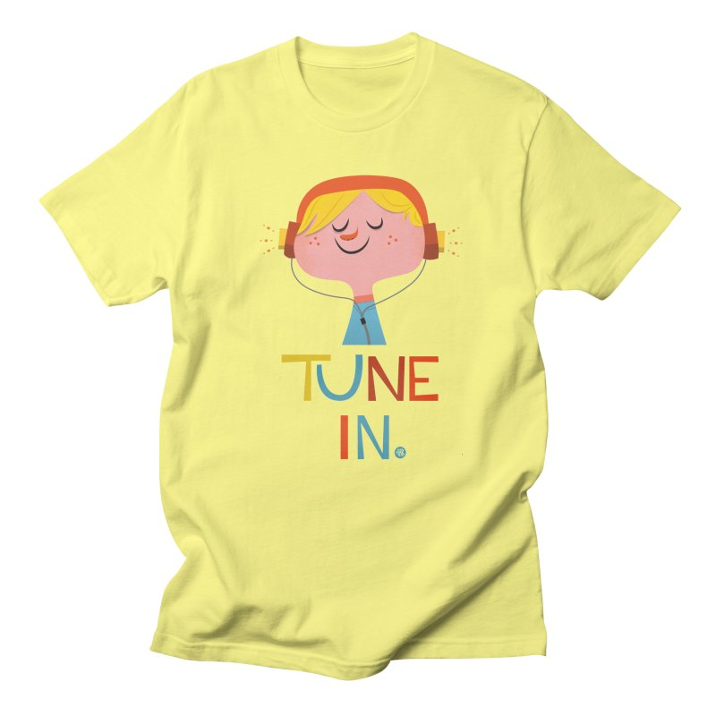 Tune In. Men's T-Shirt by amirabouroumie's Artist Shop