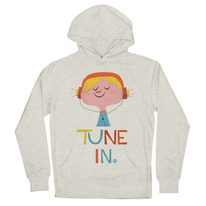 Tune In. Men's French Terry Pullover Hoody by amirabouroumie's Artist Shop