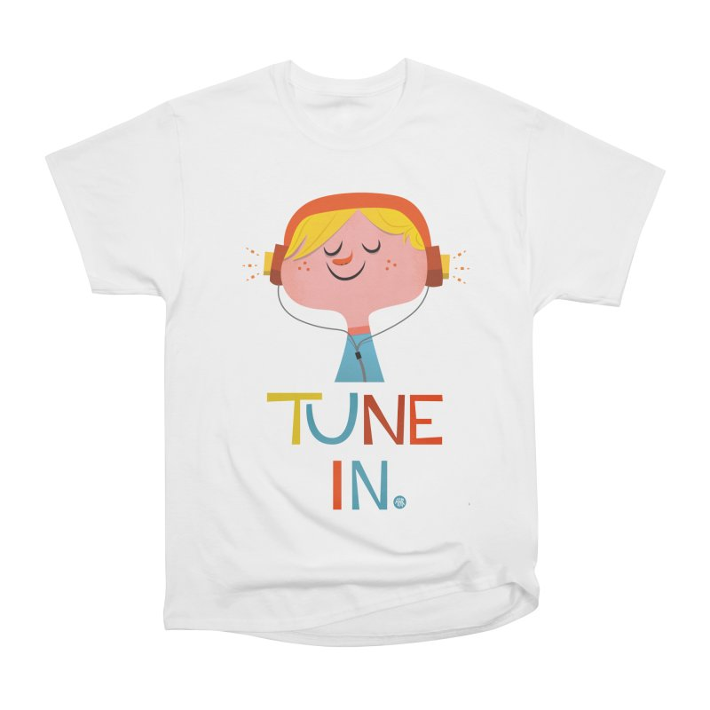 Tune In. Men's Heavyweight T-Shirt by amirabouroumie's Artist Shop