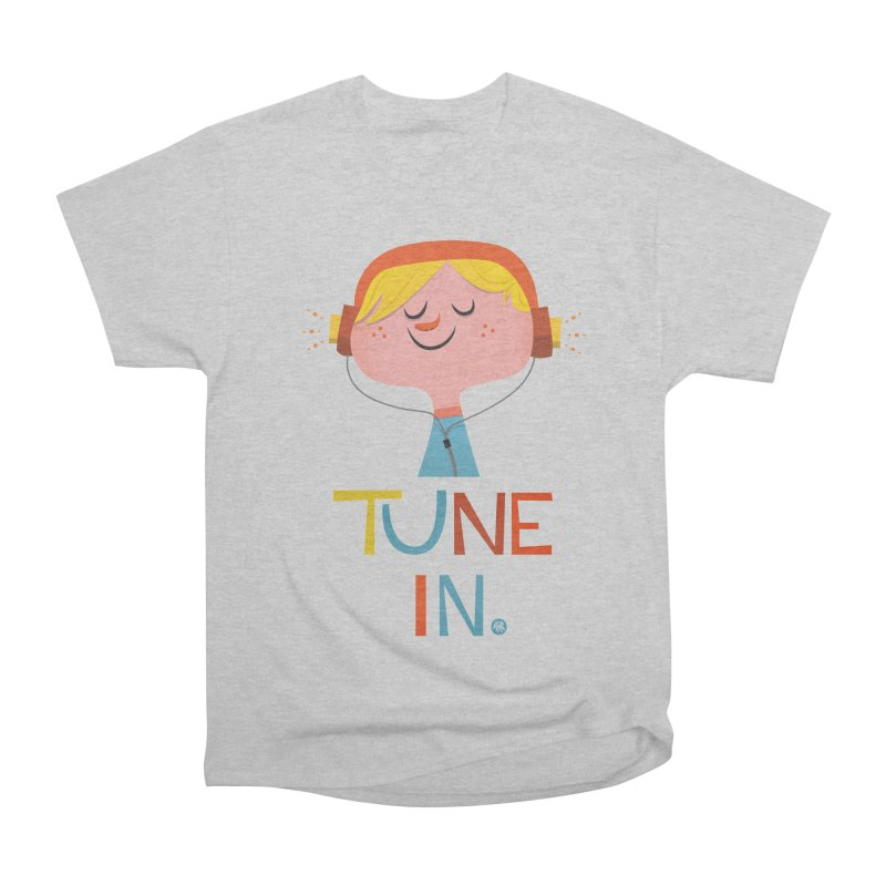 Tune In. Women's Heavyweight Unisex T-Shirt by amirabouroumie's Artist Shop