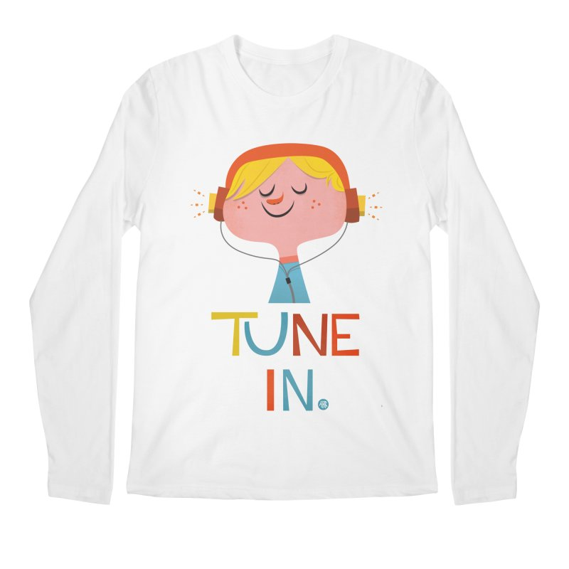 Tune In. Men's Regular Longsleeve T-Shirt by amirabouroumie's Artist Shop