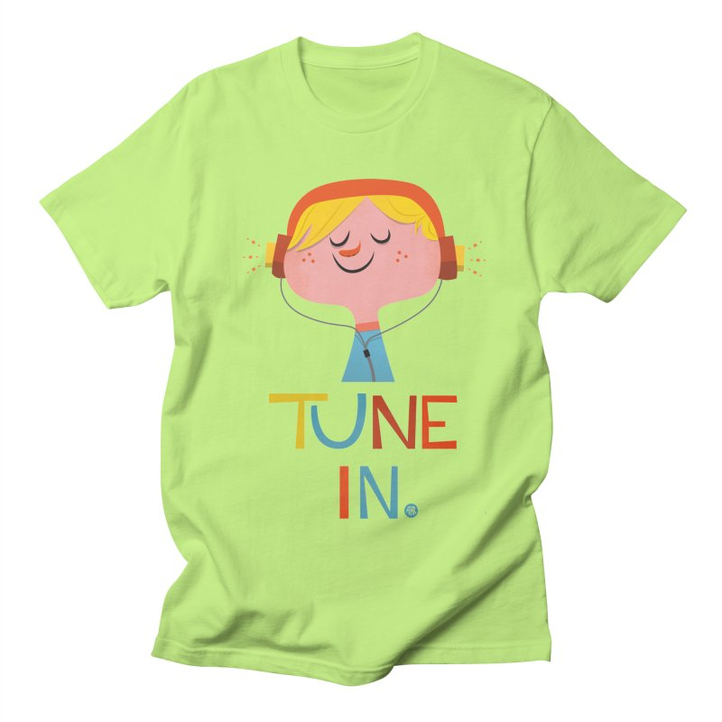 Tune In. Men's Regular T-Shirt by amirabouroumie's Artist Shop