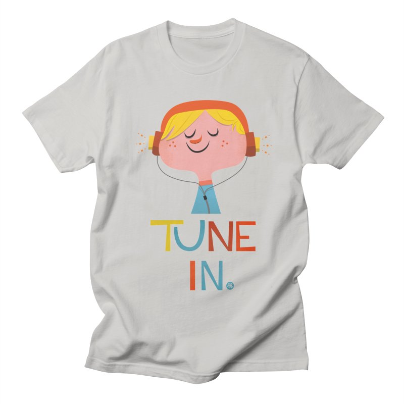 Tune In. Women's Regular Unisex T-Shirt by amirabouroumie's Artist Shop