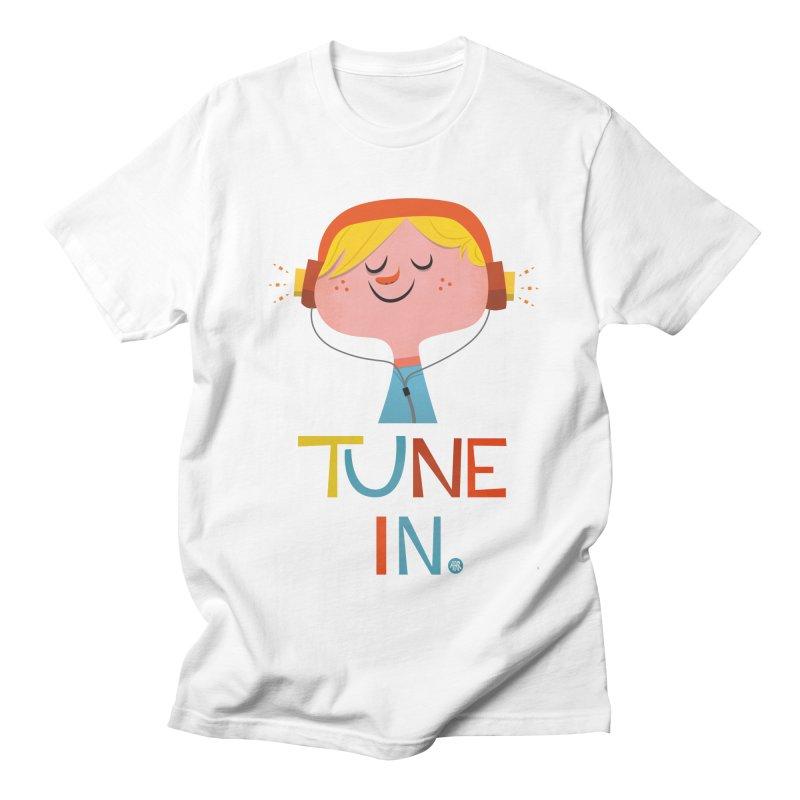 Tune In. Women's Regular Unisex T-Shirt by amirabouroumie's Artist Shop
