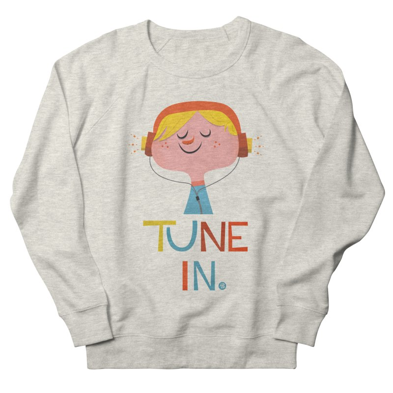 Tune In. Men's French Terry Sweatshirt by amirabouroumie's Artist Shop