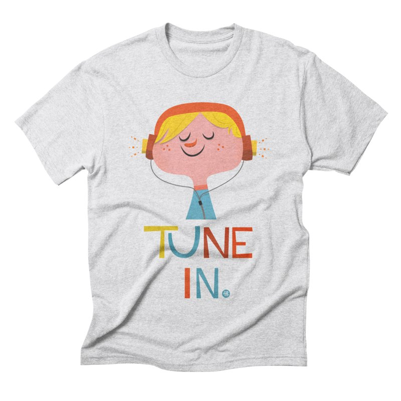 Tune In. Men's Triblend T-Shirt by amirabouroumie's Artist Shop