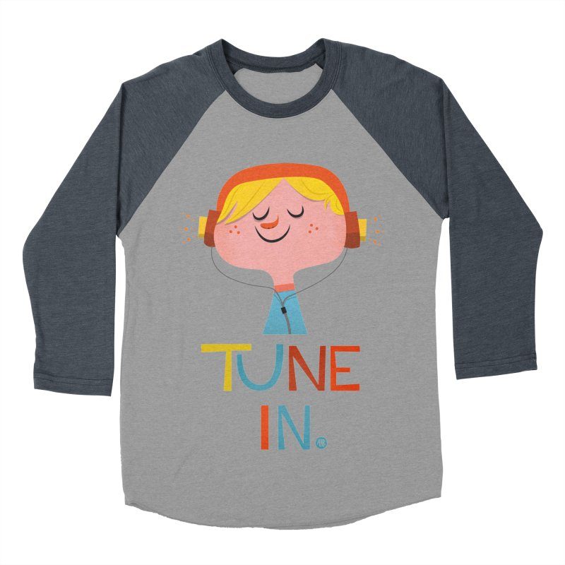 Tune In. Men's Baseball Triblend Longsleeve T-Shirt by amirabouroumie's Artist Shop