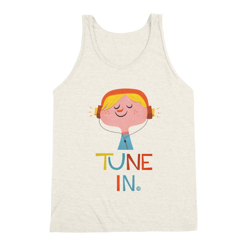 Tune In. Men's Triblend Tank by amirabouroumie's Artist Shop