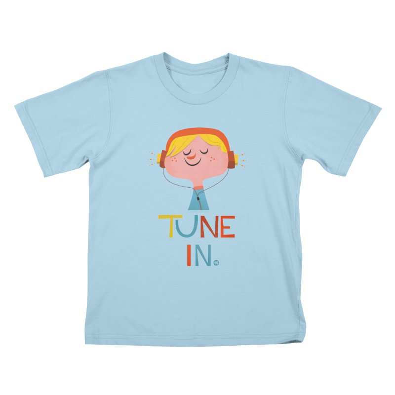 Tune In. Kids T-Shirt by amirabouroumie's Artist Shop