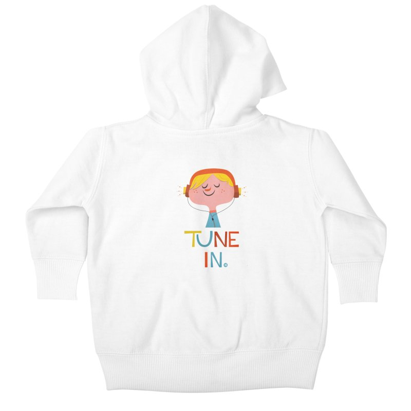 Tune In. Kids Baby Zip-Up Hoody by amirabouroumie's Artist Shop